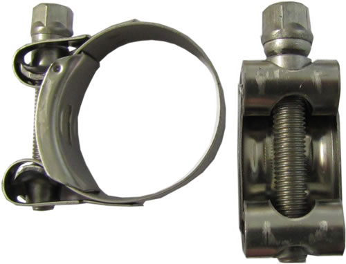 Exhaust Pipe Clamp 43mm-47mm (Zinc Bolt) Single