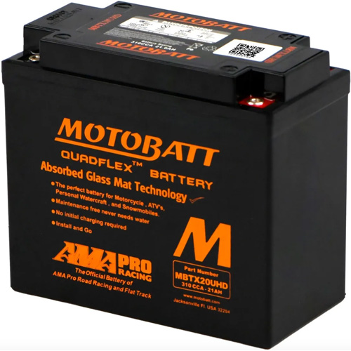 Battery Harley XL883N Sportster Iron 2009-18 (Motobatt)