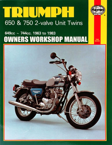 haynes service manual triumph t120 650 1963 75 motorcycle products rh motorcycleproducts co uk 1970 Triumph Bonneville 650 Triumph Motorcycle 1968