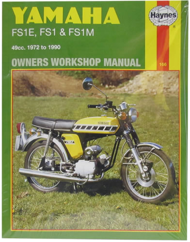 haynes service manual yamaha fs1e 1972 90 motorcycle. Black Bedroom Furniture Sets. Home Design Ideas