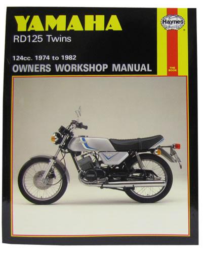 haynes service manual yamaha rd125 dx 1974 82 motorcycle. Black Bedroom Furniture Sets. Home Design Ideas