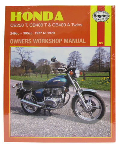 haynes service manual honda cb400 a 1977 79 motorcycle products ltd rh motorcycleproducts co uk manual honda cb400 service manual honda cb400