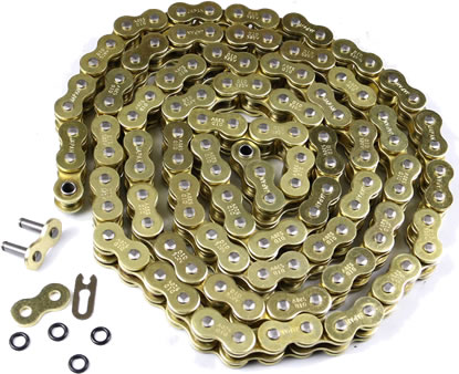 Motorcycle Drive Chain 520-104 Gold for Honda XR250R 1982-83