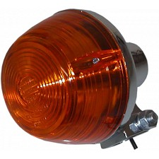 Chrome Round Indicator with Amber Lens - 018742
