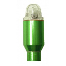 Green Wheelflea Illuminating Tyre Valve Caps with Multicolour Light
