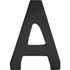 64mm Matt Black Adhesive Letter I's