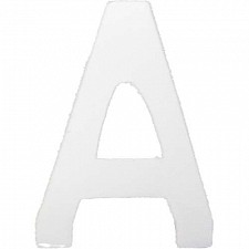 64mm Gloss White Adhesive Letter O's or Number 0's