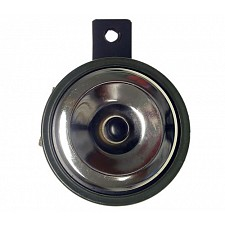 Chrome 12v 90mm Diameter Horn with Single Bolt Hole Mount